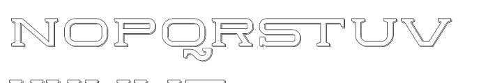 Herradura Outline Shadowed Font LOWERCASE