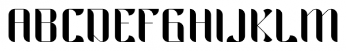 Hemiciclo Regular Font UPPERCASE