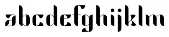 Hemiciclo Regular Font LOWERCASE