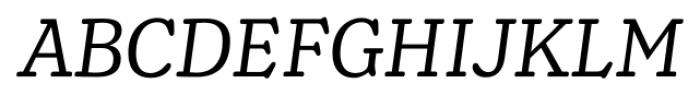 Henriette Italic Font UPPERCASE