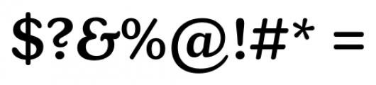 Henriette Medium Font OTHER CHARS