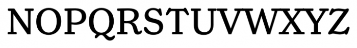 Henriette Regular Font UPPERCASE