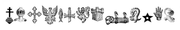 Heraldic Devices Premium Regular Font UPPERCASE