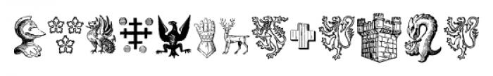 Heraldic Devices Premium Regular Font LOWERCASE
