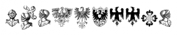 Heraldic Devices Premium Two Font OTHER CHARS