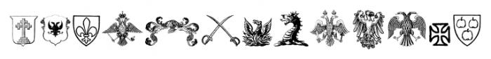 Heraldic Devices Premium Two Font UPPERCASE