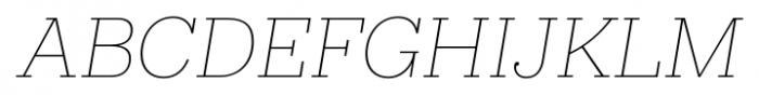 Hern�ndez Niu Extra Light Italic Font UPPERCASE