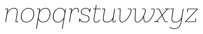 Hern�ndez Niu Extra Light Italic Font LOWERCASE