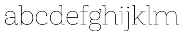 Hern�ndez Niu Extra Light Font LOWERCASE