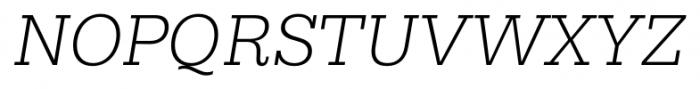 Hern�ndez Niu Light Italic Font UPPERCASE