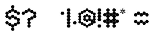 Hexa Regular Font OTHER CHARS