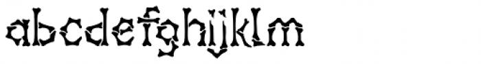 Headhunter Two Regular Font LOWERCASE
