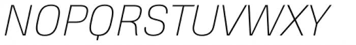 Heading Pro Double Thin Italic Font UPPERCASE