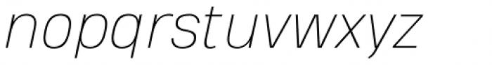 Heading Pro Double Thin Italic Font LOWERCASE