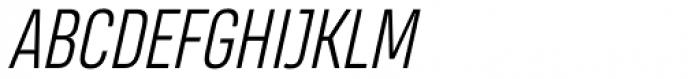 Heading Pro Light Italic Font UPPERCASE