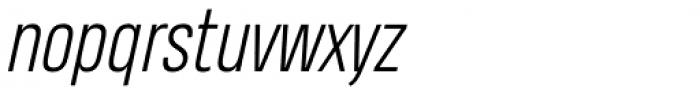 Heading Pro Light Italic Font LOWERCASE