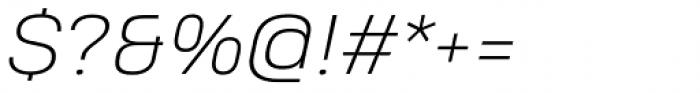 Heading Pro Treble Extra Light Italic Font OTHER CHARS