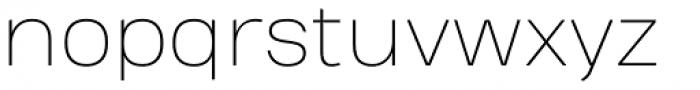 Heading Pro Treble Thin Font LOWERCASE