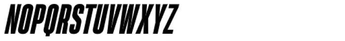 Heading Pro Ultra Compressed Extra Bold Italic Font UPPERCASE