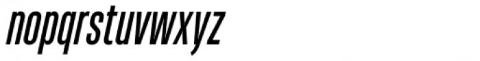 Heading Pro Ultra Compressed Italic Font LOWERCASE