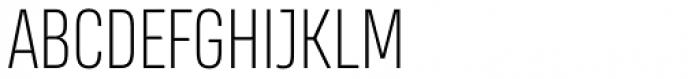 Heading Smallcase Pro ExtraLight Font UPPERCASE