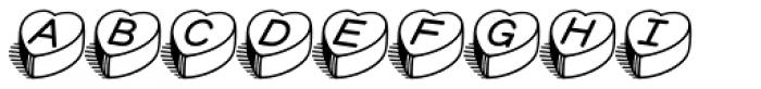 HeartBeats BH Font UPPERCASE