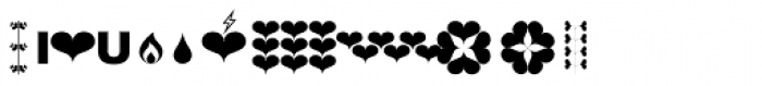 Hearts Font OTHER CHARS