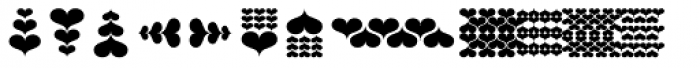 Hearts Font UPPERCASE