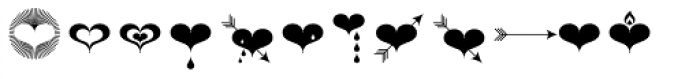 Hearts Font LOWERCASE
