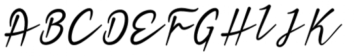 Heavy Boxing Script Font UPPERCASE