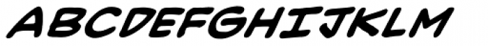 Heavy Mettle LC BB Bold Italic Font UPPERCASE