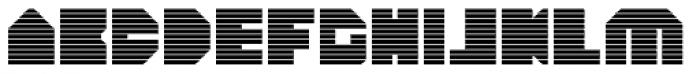 HeavyLOUDedge Line Font UPPERCASE
