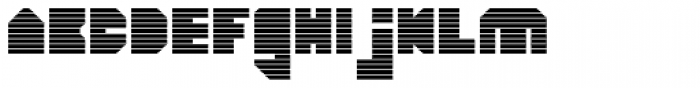 HeavyLOUDedge Line Font LOWERCASE