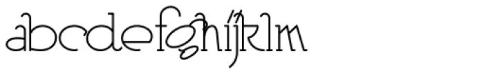 Heberling Casual NF Font LOWERCASE