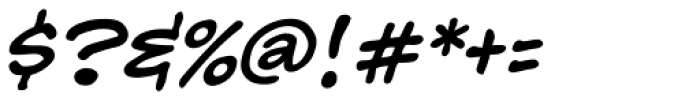 Hedge Backwards Italic Font OTHER CHARS