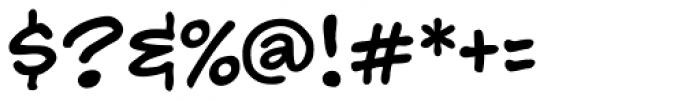 Hedge Backwards Font OTHER CHARS