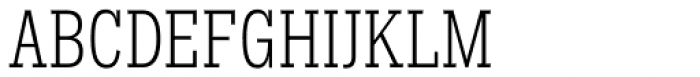 Hefring Slab Compact Light Font UPPERCASE