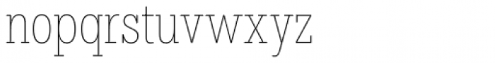 Hefring Slab Compact Thin Font LOWERCASE