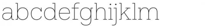 Hefring Slab Thin Font LOWERCASE