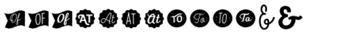 Heiders Extras 4 Font LOWERCASE