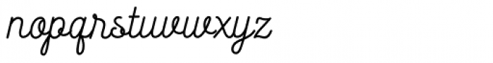 Heiders Handmade Script Font LOWERCASE