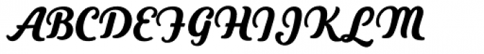 Heiders Script C Black Font UPPERCASE
