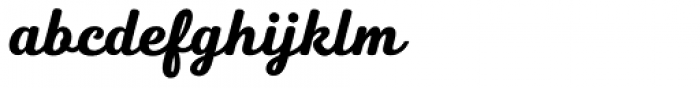 Heiders Script C Black Font LOWERCASE