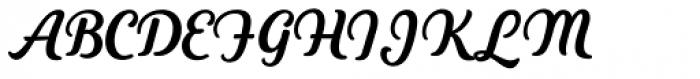 Heiders Script C Bold Font UPPERCASE