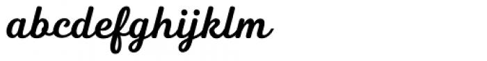 Heiders Script C Bold Font LOWERCASE