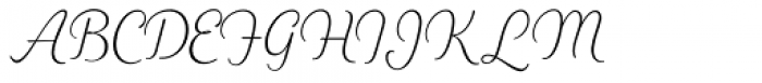 Heiders Script C Ext Light Font UPPERCASE