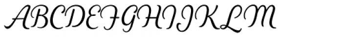 Heiders Script C Light Font UPPERCASE