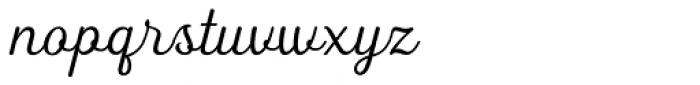 Heiders Script C Light Font LOWERCASE
