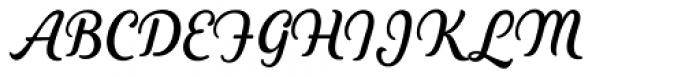 Heiders Script C Regular Font UPPERCASE