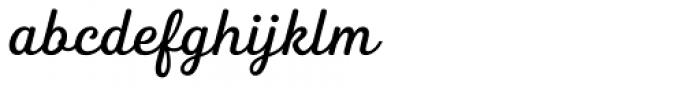 Heiders Script C Regular Font LOWERCASE